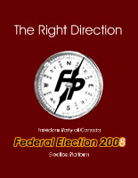 Freedom Party of Canada's 2008 Election Platform, released in May of 2004.